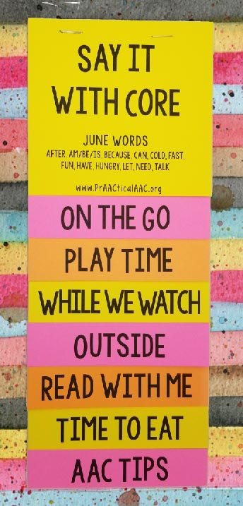 PrAACtical Resources: Core Vocabulary Flipbook for June Words